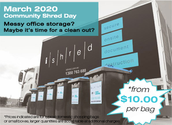 iShred Document Destruction Melbourne - Community Shred Day March 2020