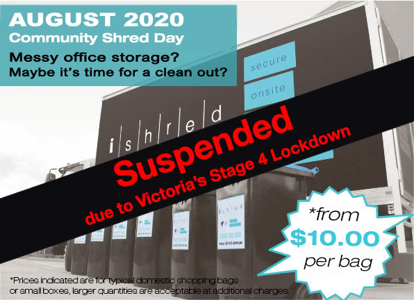 iShred 2020 August Community Shred Day